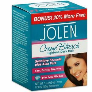 Jolen Creme Bleach Sensitive Formula Plus Aloe Vera 1.2 oz (Pack of 3)