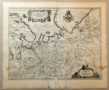 Carte 1656 JANSSONIUS antique map in-folio RUSSIE MOSCOVIE Archangel Sibérie 8