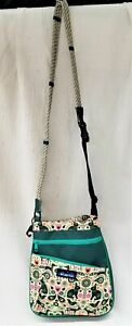 Kavu Green Bunnies Printed Convertible Shoulder Bag Crossbody Purse