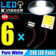 6XWhite 48-COB High Power RV Trailer LED Panel dome map light+1156 BA15S Adapter