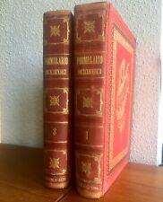 1889 FORMULARIO ENCICLOPÉDICO MEDICINA FARMACIA VETERINARIA I y III