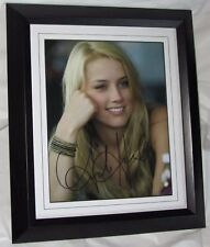 A885AH AMBER HEARD SIGNED FRAMED GUARANTEED AUTHENTIC AUTOGRAPH + signing detail