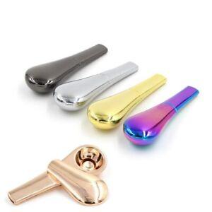 Cigarette Pipe 1Pc Cucchiaio Smoking Pipa Pipa Per Tabacco Portatile In Metallo