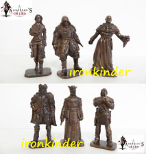Assassin's Creed red bronze collectible miniature figure 40mm Mega Rare set!