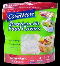 CoverMate® Strech-to-Fit Food 1 pack Covers, Assorted (Small, Med. & Large)