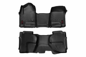 Rough Country Durable Floor Mats (fits) 14-18 Silverado Sierra Double Cab