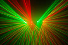 4 Lens 250mW RG DMX Laser disco dj Light Stage Party Lighting show equipment