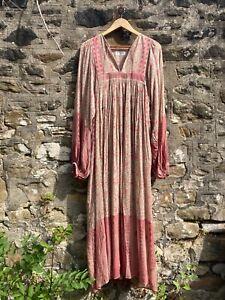 SAINT LAURENT - Prairie kaftan summer maxi dress UK14 FR42 YSL