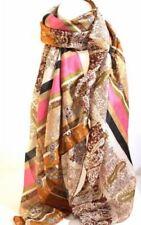 Écharpes et châles foulard noir avec des motifs Cachemire pour femme
