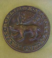 DDR Messing Medaille - Berliner Eissport-Verband