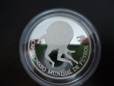 1982 Peru Large Silver Proof 5000 Soles World Cup Soccer