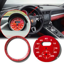 Red Dial Clock Gauge Chrono For Porsche Cayman 911 Macan Cayenne Boxster Panamer