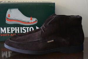 Mephisto Stelio Dark Brown Leather Boots Sz. 12