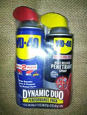 WD-40 Dynamic Duo Spray Lubricant 12 Oz Specialist Rust Release Penetrant 11 Oz