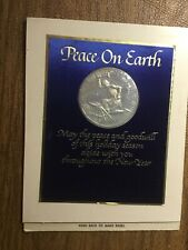 1967 Franklin Mint Peace On Earth Card And Medal