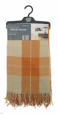 Acrylic Country Checked Decorative Throws