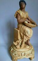 1884's Antique Vintage Original Porcelain figurine Sitzendorf Germany Stamp 32cm