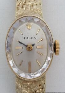 Vintage Mid Century 14k Gold Rolex Ladies Wrist Watch