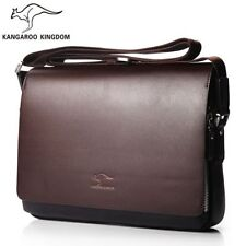 Men Leather Laptop Shoulder Bag Casual Business Messenger Bag Briefcase Fashion