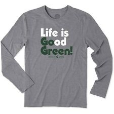 Life Is Good Men's Michigan State University  Spartans MSU Long Sleeve T-Shirt