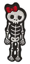 Patch écusson patche thermocollant Squelette Monster brodé