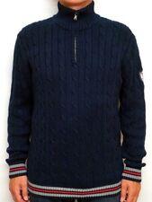 McNEAL * Pullover Gr. L Baumwolle Strick Blau Herren Oberteil Knit Jacket
