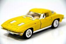 "Kinsmart 5"" 1963 Chevy Chevrolet Corvette Stingray Diecast Model Toy 1:36 Yellow"