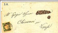 NAPOLI-Mezzo tornese(17d) verde smeraldo-Circolare x Varese Ligure 4.8.1862