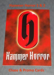 Hammer Horror Series 1 & 2 Strictly Ink Selection of Promos and Chase Cards