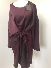 bnwt Allsaints Sonny Sleeve dress.uk 10(fits Uk 12/14)maroon Red £168
