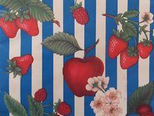 Vintage Fruit Red Strawberries Cherries Apples Raspberries Gift Wrapping Paper