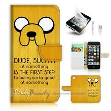 ( For iPhone 5 / 5S / SE ) Wallet Case Cover! P0982 Adventure Time