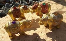 PORTAINCENSO ELEFANTE ORO oriente brucia incenso india animale dipinto a mano