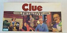 Vintage 1972 Parker Brothers CLUE Detective Board Game 100% COMPLETE