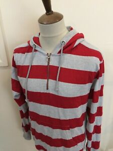 CHAMPION HOODED SWEAT SHIRT TOP SIZE XL GREY / RED