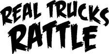 Real Trucks Rattle vinyl decal/sticker truck diesel turbo black smoke soot