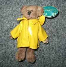 "Bearington Rainy Day RONALD  Bearkins Miniature Plush Bear  4.5"" Inches Retired"