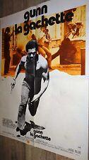 GUNN LA GACHETTE ! jim brown affiche cinema blaxploitation 1977