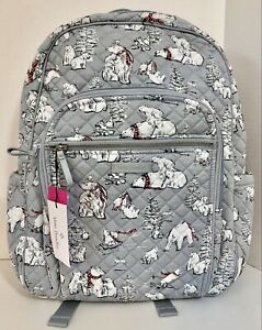 Vera Bradley Iconic Campus Backpack in Berry Merry