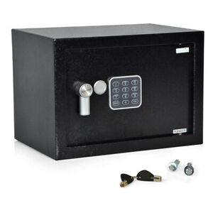 SereneLife SLSFE15 Fireproof Electronic Digital Combination Safe Box with Keys