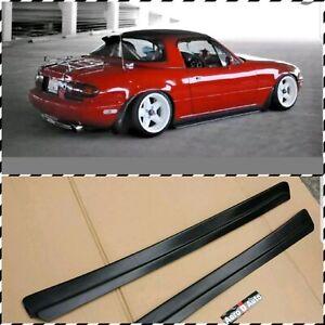 Mazda MX5 90-97 MK1 MIATA FEED STYLE SIDE SKIRTS   Polyurethane   Black