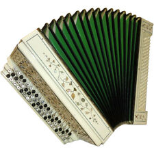 Handmade Copper Russian Button Accordion Bayan, 110 Bass, 26