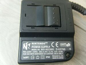 OFFICIAL NINTENDO 64 REPLACEMENT POWER SUPPLY UNIT TRIED AND TESTED