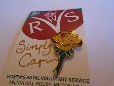 Yellow & Red Rose For The W.R.V.S Pin Badge BNOC