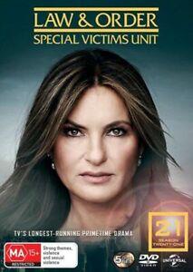 Law & Order SVU Special Victims Unit Season 21 BRAND NEW Region 4 DVD