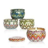 4pcs/Sets Scented Candles Gift Natural Soy Wax Indoor Fragrances Candle Fas V3V8
