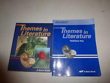 A Beka 9th Grade Themes in Literature Student Homeschool,Teacher Guide &Test Key