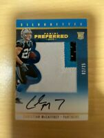 2017 CHRISTIAN MCCAFFREY ROOKIE PATCH AUTO 02/25 - Panini Preferred Silhouettes
