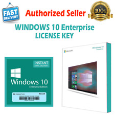 🔑WINDOWS 10 ENTERPRISE GENUINE 🔑 LICENSE KEY 🔑 INSTANT DELIVERY 🔑