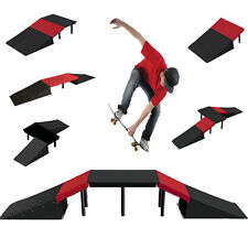 6 in 1 Stunt Skate Ramp Set For Scooter Skateboard Bike BMX Inline Roller Skates